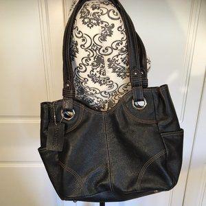 Danier Genuine Pebbled Leather Black shoulder bag